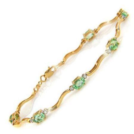 green sapphire bracelet