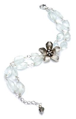 silver gemstone bracelet