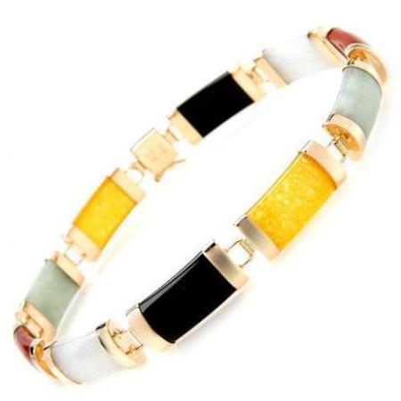 multicolor agate bracelet