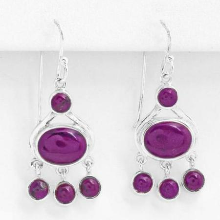 agate gemstone designer earrings