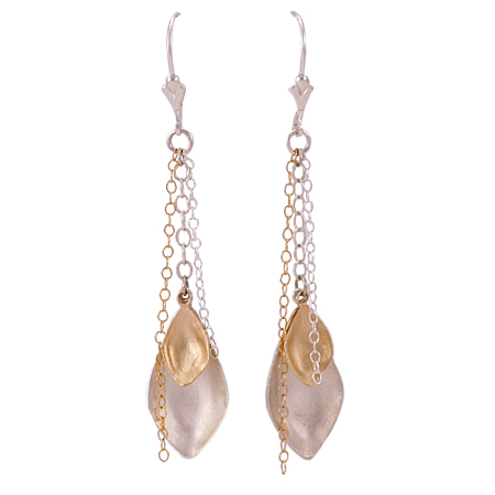 designer silver and gold earrings
