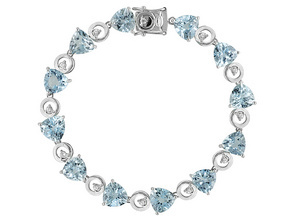 silver and topaz bracelet