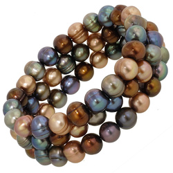 colored pearl bracelets