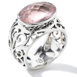 silver and gemstone designer ring