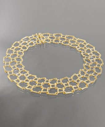 gold and CZ choker
