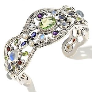 designer gemstone cuff