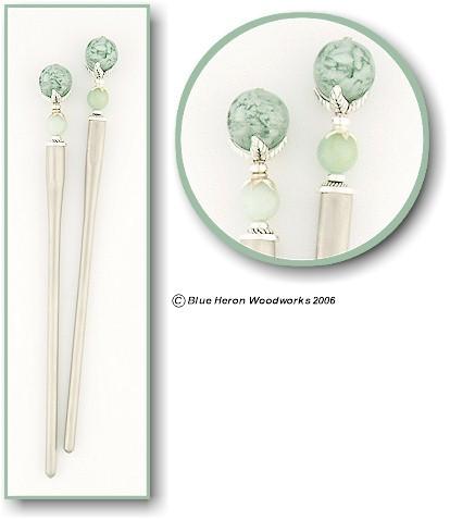 gemstone hair sticks