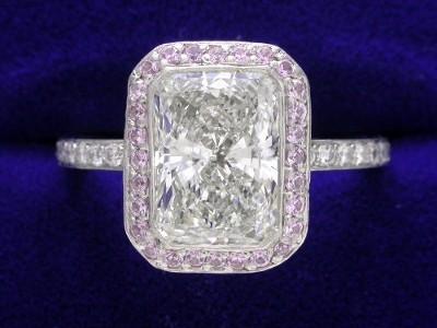 diamond and gemstone ring