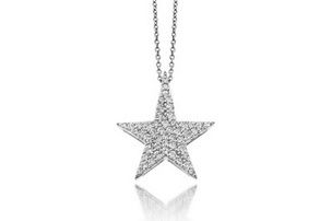 The jewelry weblog part 28 14k white gold and pave diamond star pendant by new york designer saffron lloyd this dazzling designer pendant measures approximately 16mm in height and aloadofball Choice Image