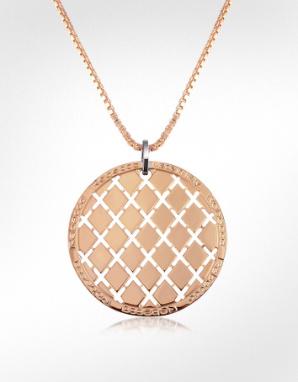 round gold pendant