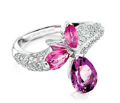 multigemstone ring