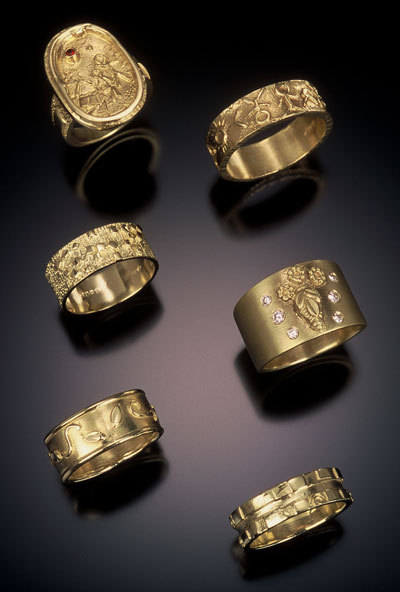 gold designer rings