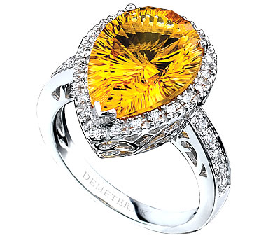 designer citrine ring