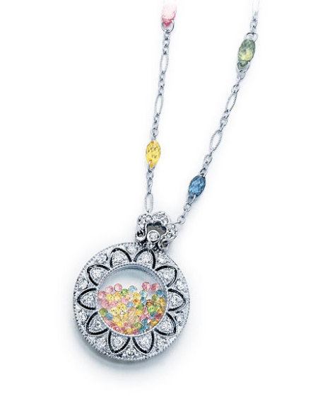 diamond and gemstone pendant
