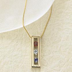 gold gemstone pendant