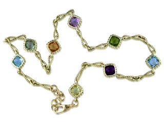 gold and gemstone necklace
