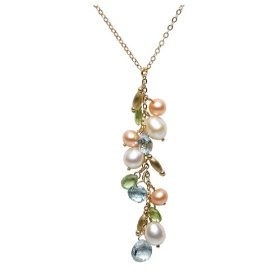 pearl and gemstone pendant