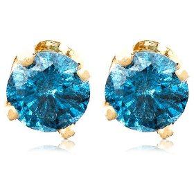blue diamond earrings