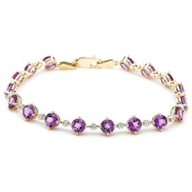 gold gemstone bracelet