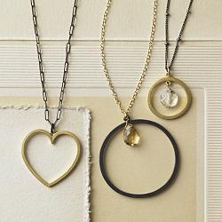 designer metal necklaces