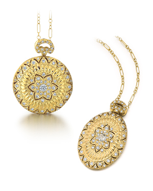 gold and diamond lockets