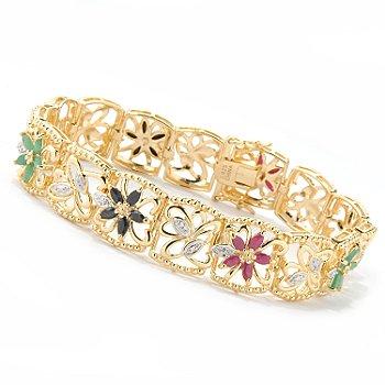multigemstone bracelet