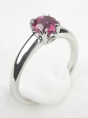 pink tourmaline designer ring