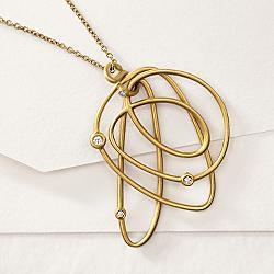designer gold diamond necklace
