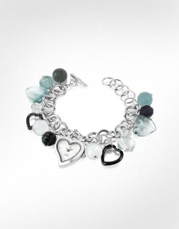 glass charm bracelet