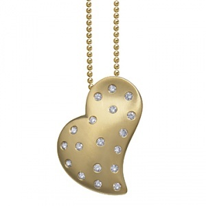 gold and diamond pendant