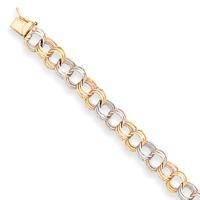 two tone charm bracelet