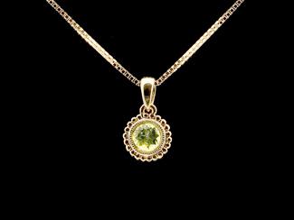 gemstone gold pendant