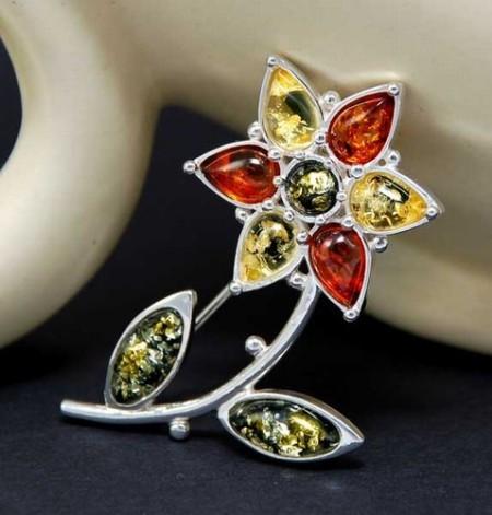 amber designer pin