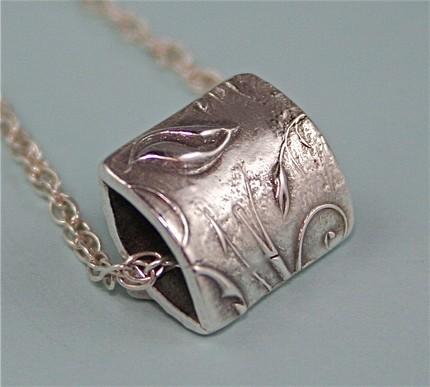fine silver bead