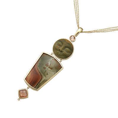 gold and gemstone pendant