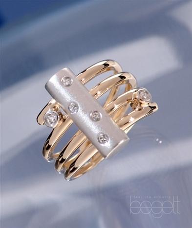 white and yellow gold designer ring