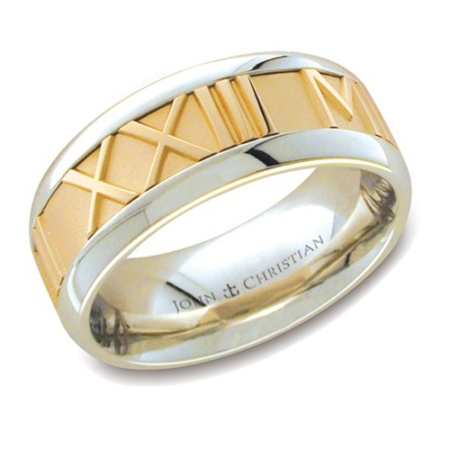 gold and platanium wedding band