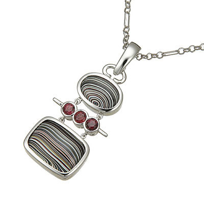 white gold gemstone necklace