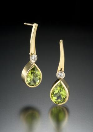 gold gemstone earrings