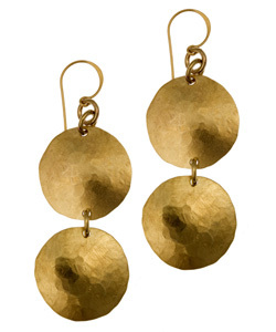 gold disk earrings