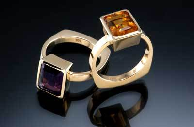 gold and gemstone rings