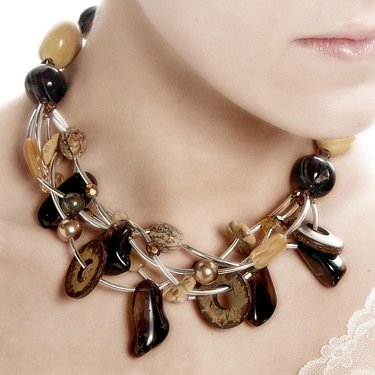 agate and shell necklace
