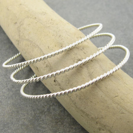 twisted wire bangles