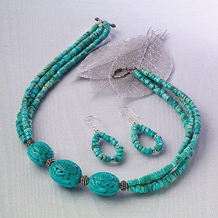 designer turquoise jewelry set