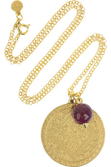 textured gold pendant