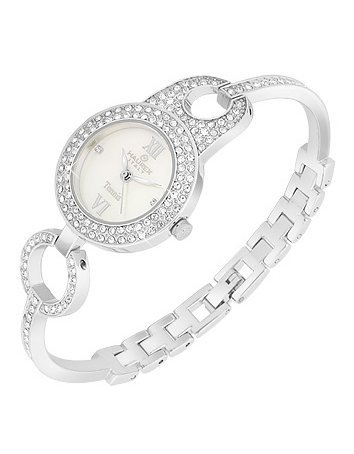 crystal dress watch