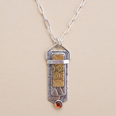 silver and gold designer pendant