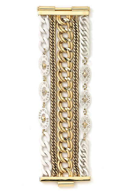 gold and enamel bracelet