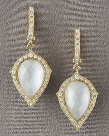 diamond and quartz earrings