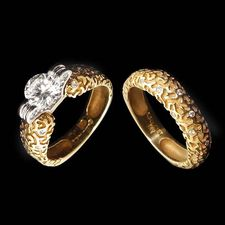 textured gold and diamond rings